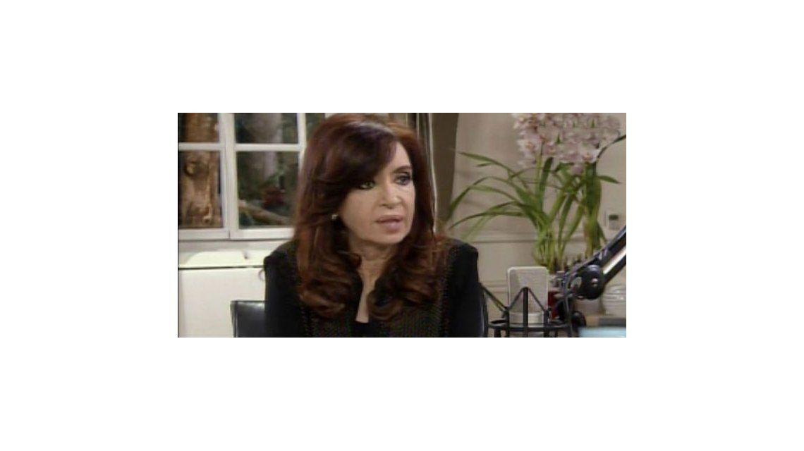 Primera entrevista a Cristina Kirchner por la tele en cuatro años