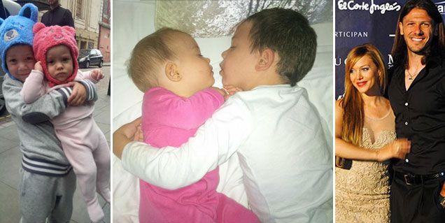 Las fotos más íntimas de los hijos de Evangelina Anderson y Demichelis