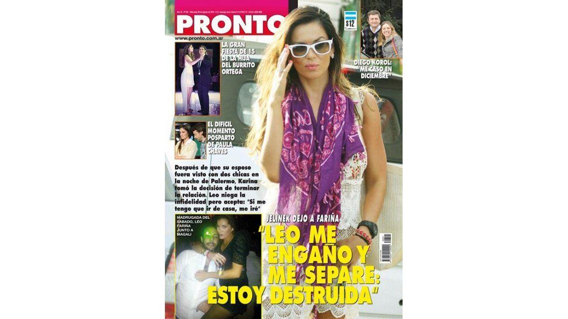 Flor Peña con su novio, y la separación de Karina Jelinek, son tapa de revista