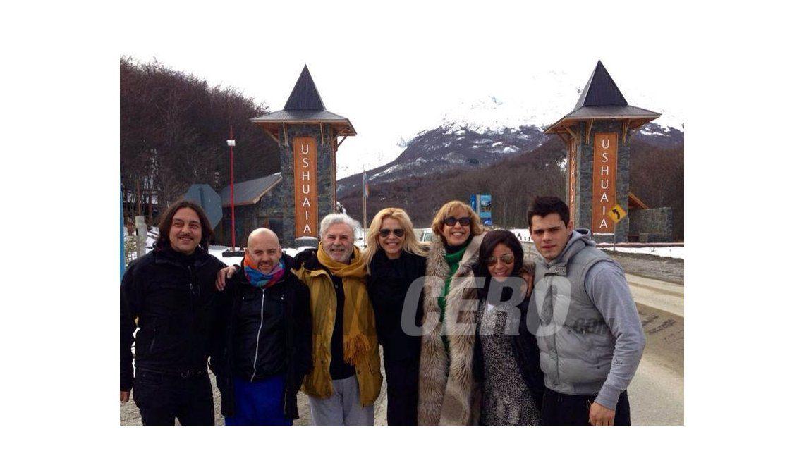 El álbum de fotos de la despedida de la gira de Los Grimaldi, en Ushuaia