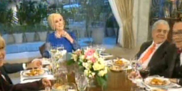 Antonio Gasalla  en el ciclo de Mirtha: Volvería con Susana sino fuera a las 23