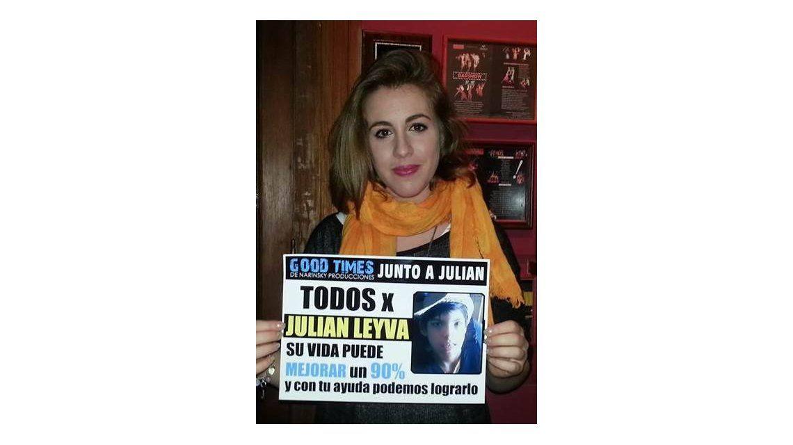 Los actores de Solamente Vos apoyaron la causa de Julián Leyva