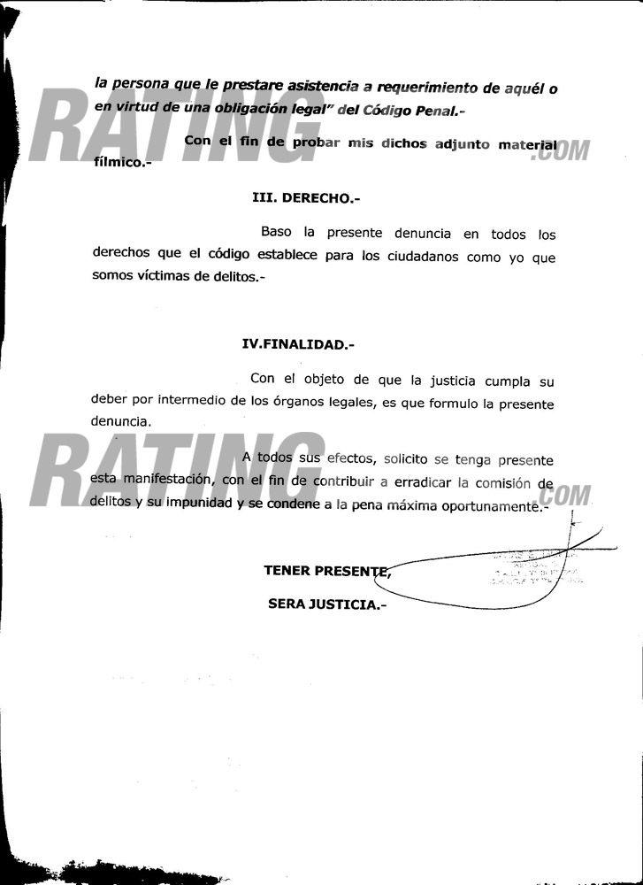 Exclusivo RatingCero.com: la denuncia de Maradona contra Susana, letra por letra