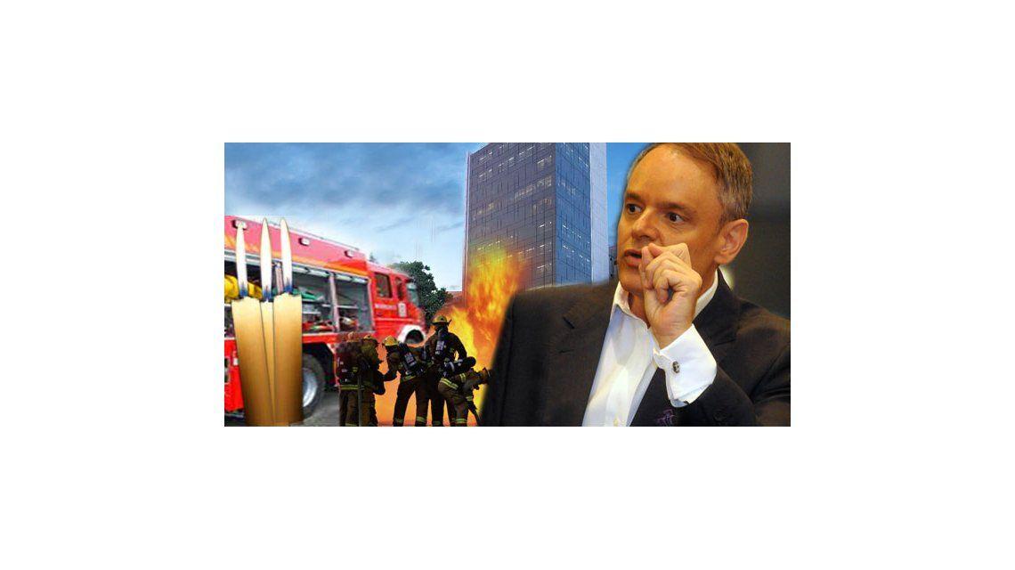 Escándalo en el edificio de Mühlberger por un incendio: gritos, velas y bomberos
