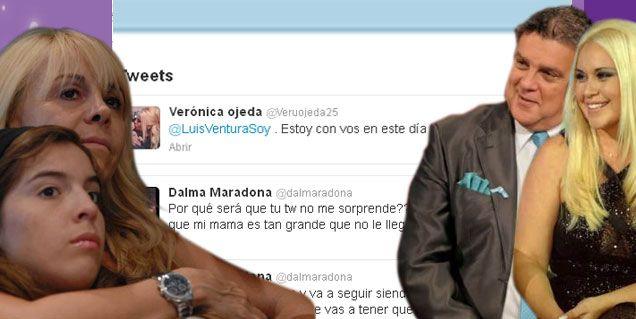 Mientras Ventura y Villafañe se veían en la justicia, Dalma y Ojeda peleaban en Twitter