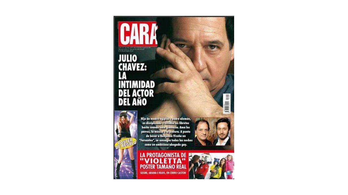 Julio Chávez es tapa de revista por su protagónico en Farsantes