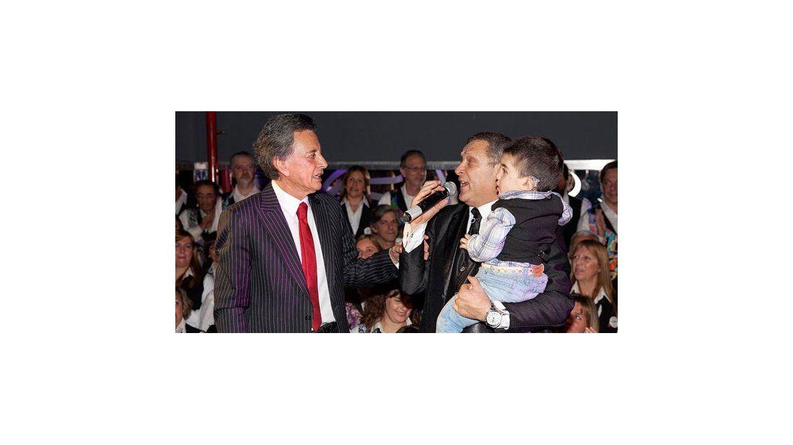 Palito Ortega participó del evento solidario Todos por Ciro