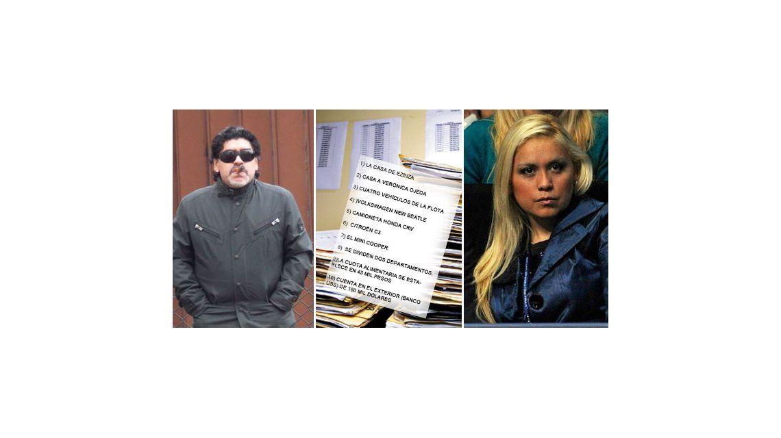 El acuerdo secreto de los bienes de Maradona y Ojeda: 10 puntos clave