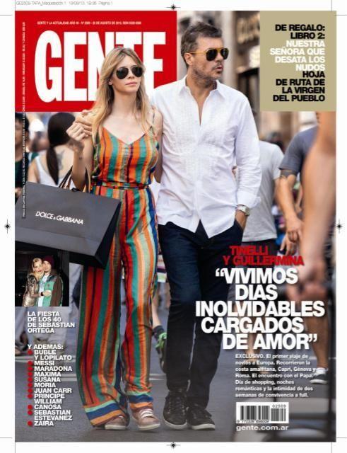 Las vacaciones de Tinelli y su novia Guillermina Valdes, a puro amor en Europa