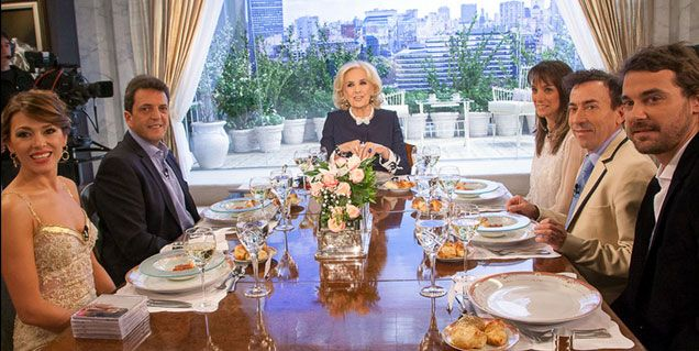 Mirtha en una mesa sin polémica, mucho mediático y demasiada política