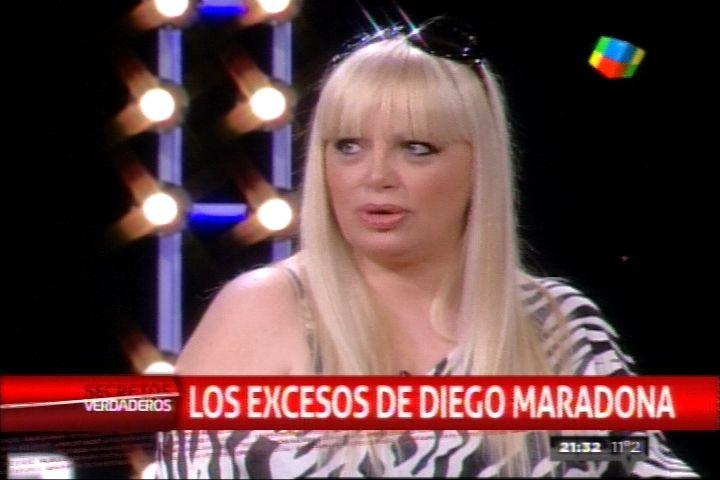 Marcela Ortiz: Maradona hacía fiestas en la que circulaban bandejas de droga