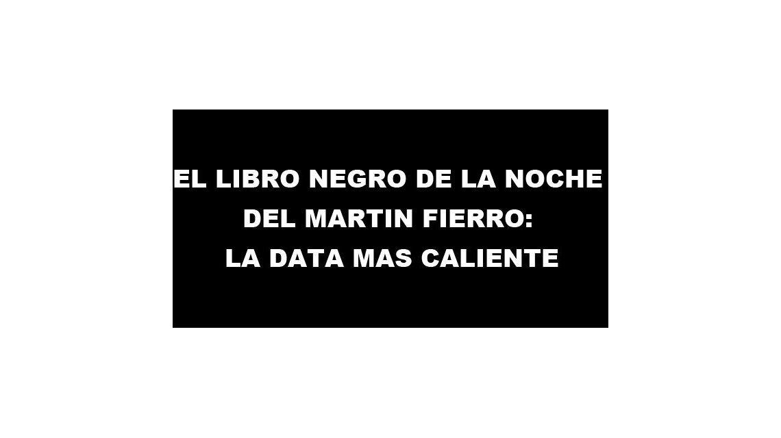 El libro negro de la noche del Martín Fierro: la data más caliente