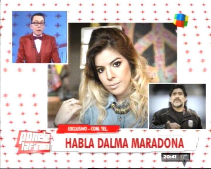 Dalma Maradona: Mi papá me dijo que Verónica no viaja con él