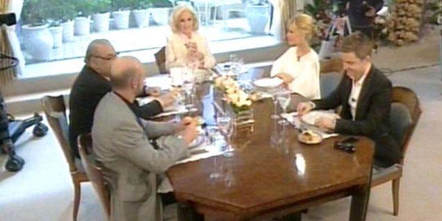 Sus primeros invitados: Peña, Del Moro, Campanella y Pinti; elogios y reproches