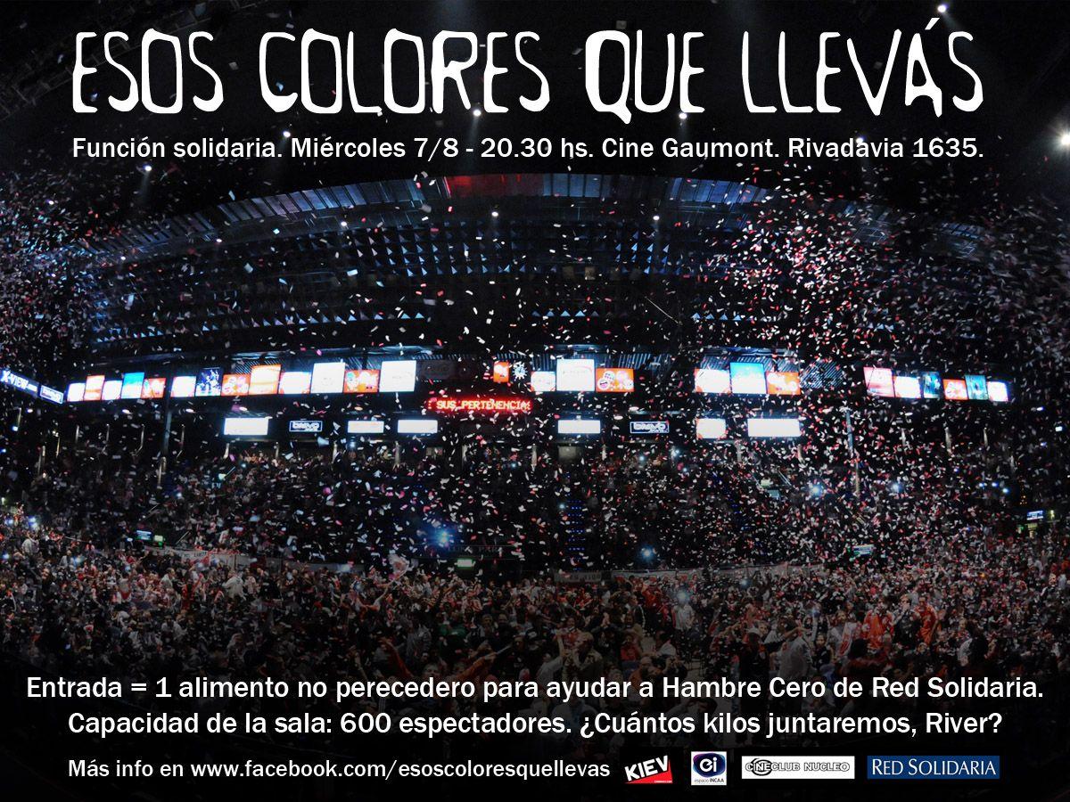 Se estrena la película sobre River Plate  Esos colores que llevás