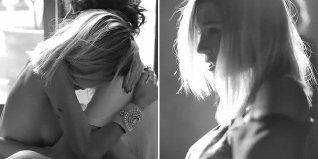 El sensual desnudo de Micaela Breque en un nuevo videoclip de Andrés Calamaro