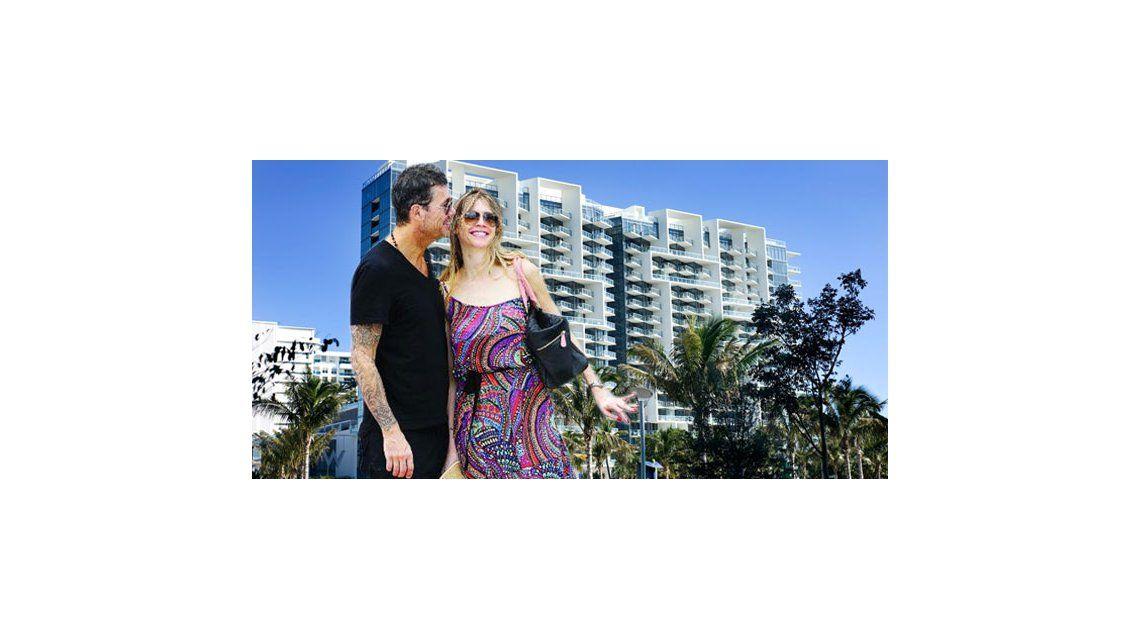 Tinelli y Valdes: últimas horas antes de volver, en el hotel más caro de Miami