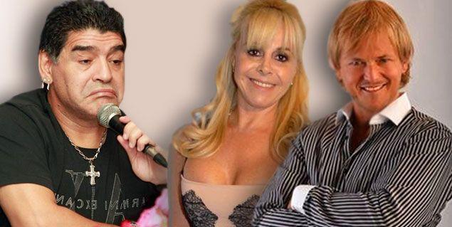Los celos de Maradona por el novio de Claudia Villafañe ...