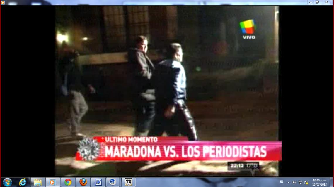 Nueva agresión de Maradona a la prensa
