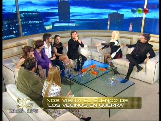Susana Giménez charló con los Vecinos en guerra y le dio una sorpresa a Diego Torres
