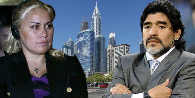 El reencuentro secreto entre Verónica Ojeda y Diego Maradona en Dubai