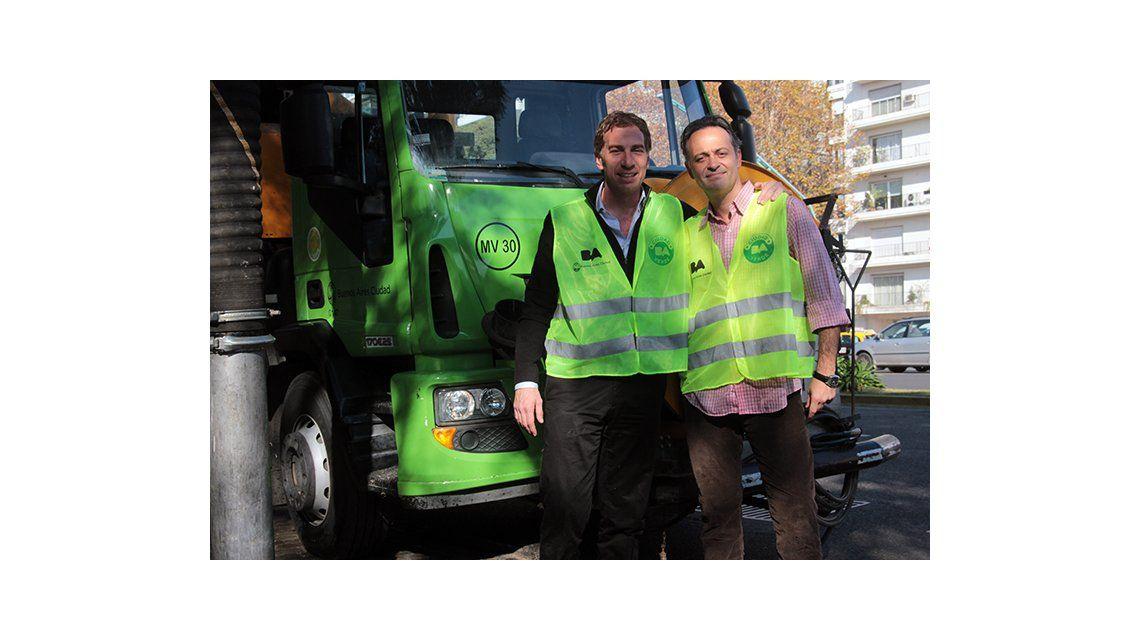 Tartu y Diego Santilli: una insólita dupla por las calles de Buenos Aires