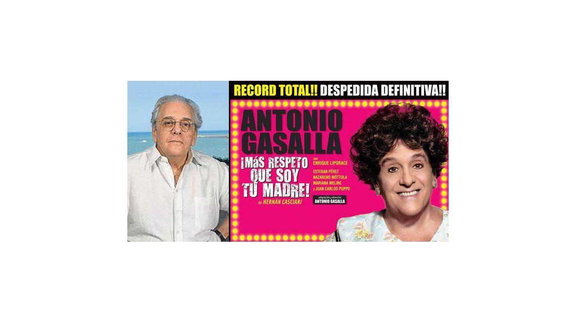 Antonio Gasalla suspendió el casting de Más respeto que soy tu madre