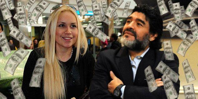 Verónica Ojeda quiere que Maradona le pague diez mil dólares de cuota alimentaria
