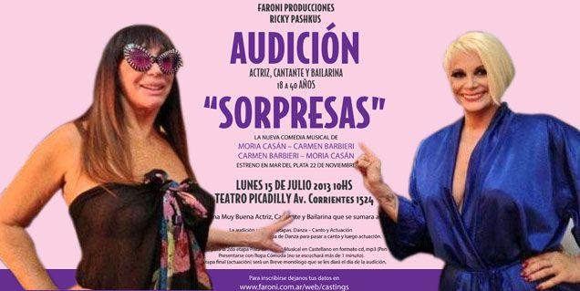 Moria y Carmen buscan nuevos talentos para su nuevo espectáculo