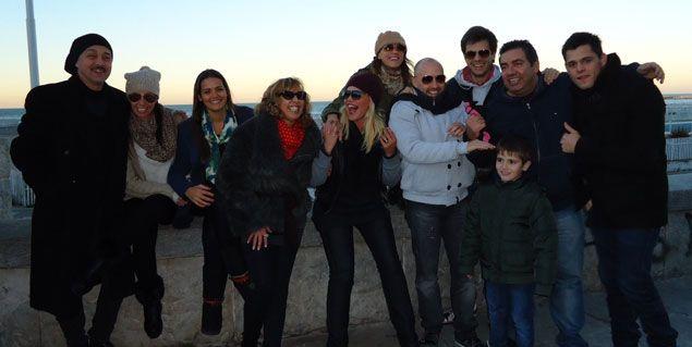 Nazarena, Ranni,  Georgina y todos Los Grimaldi, coparon Mar del Plata