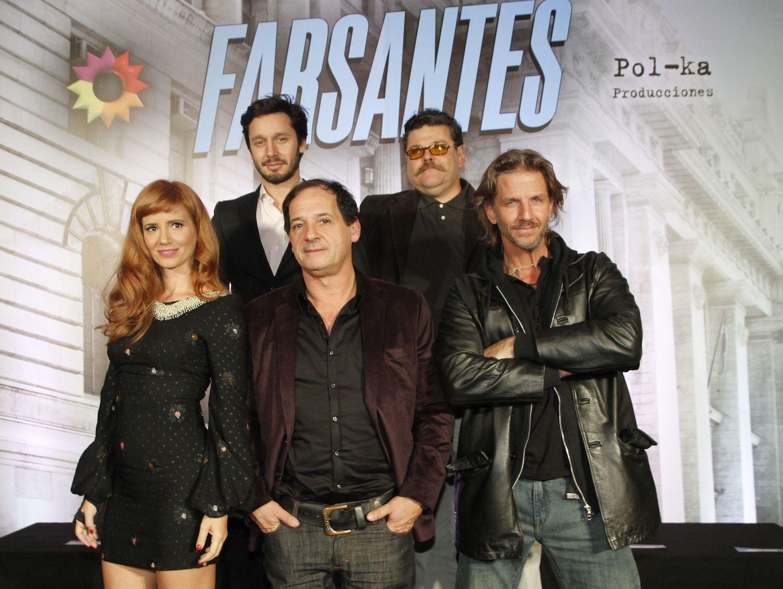 Chávez, Facundo Arana, Siciliani, Vicuña y Casero presentaron Farsantes