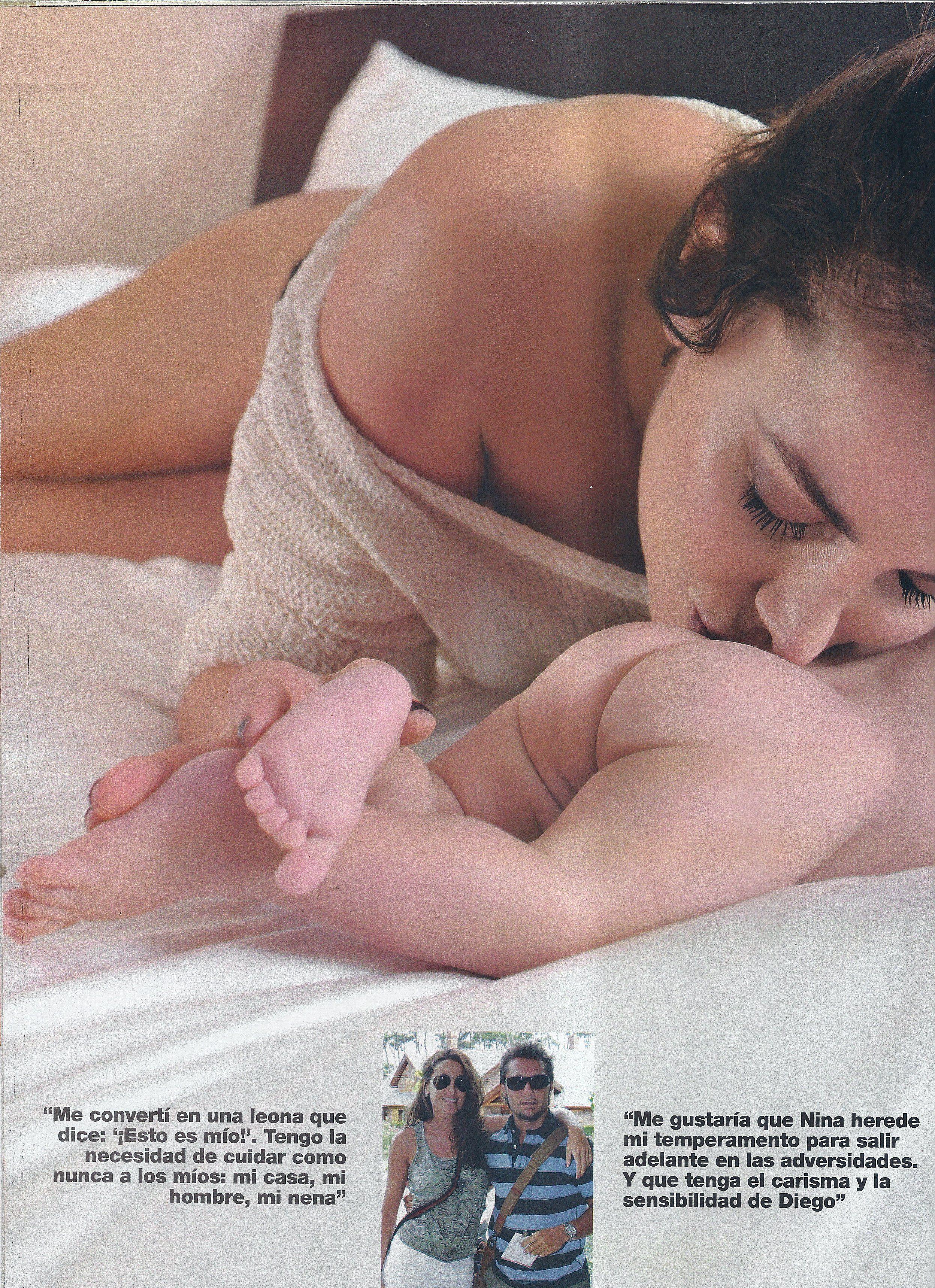 Débora Bello presentó a Nina, su hija con Diego Torres: Llegó en el mejor momento