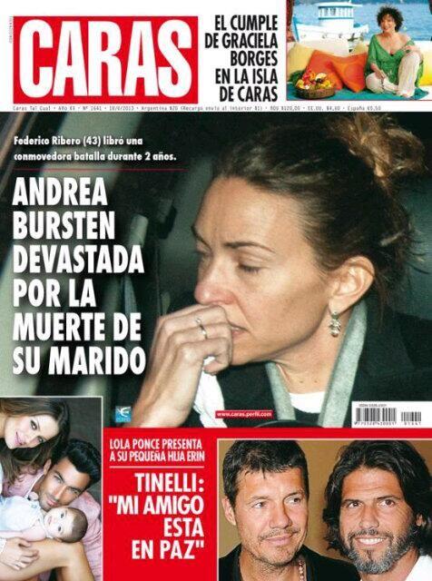 El dolor de Andrea Bursten tras la muerte de su marido es tapa de Caras
