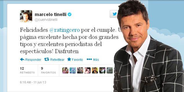 El saludo de Marcelo Tinelli por el cumpleaños de RatingCero.com