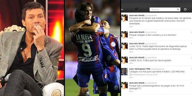 La furia de Tinelli porque la AFA cambió el horario del partido de San Lorenzo