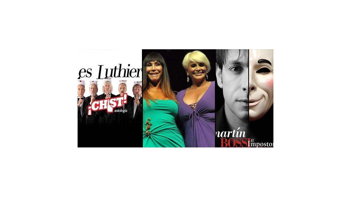 Les Luthiers, Martín Bossi y las Escandalosas lideran la taquilla porteña