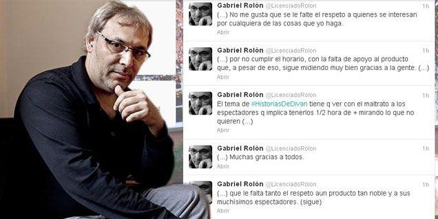 Gabriel Rolón, furioso con Telefe por el cambio de horario de Historias de diván