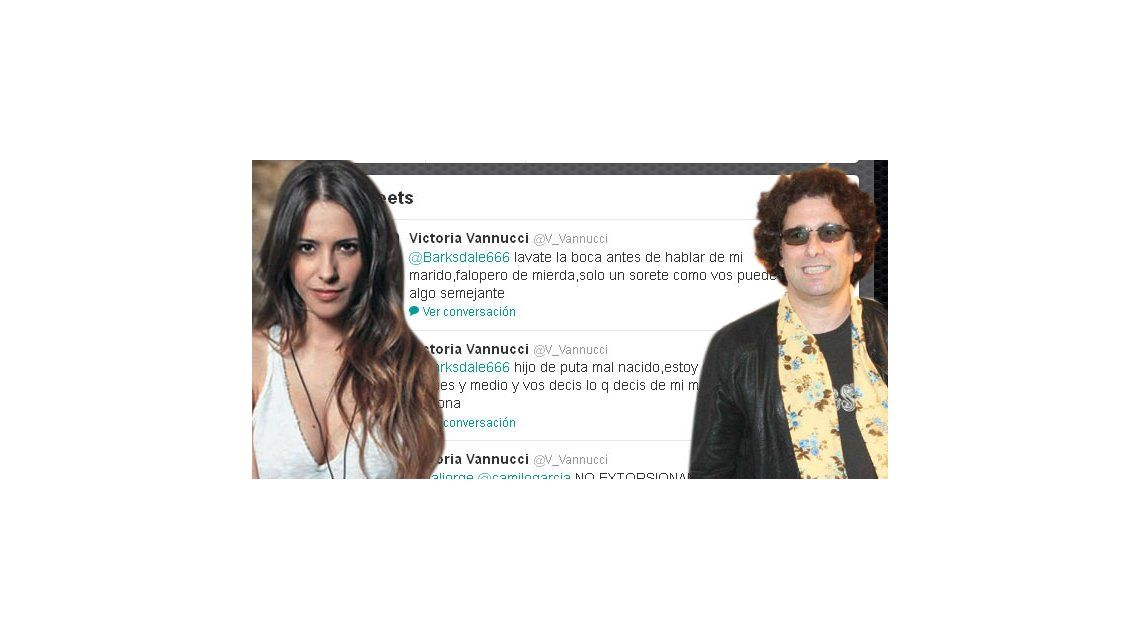 Victoria Vannucci defendió a Garfunkel y le respondió a Calamaro: Falop... de mier...