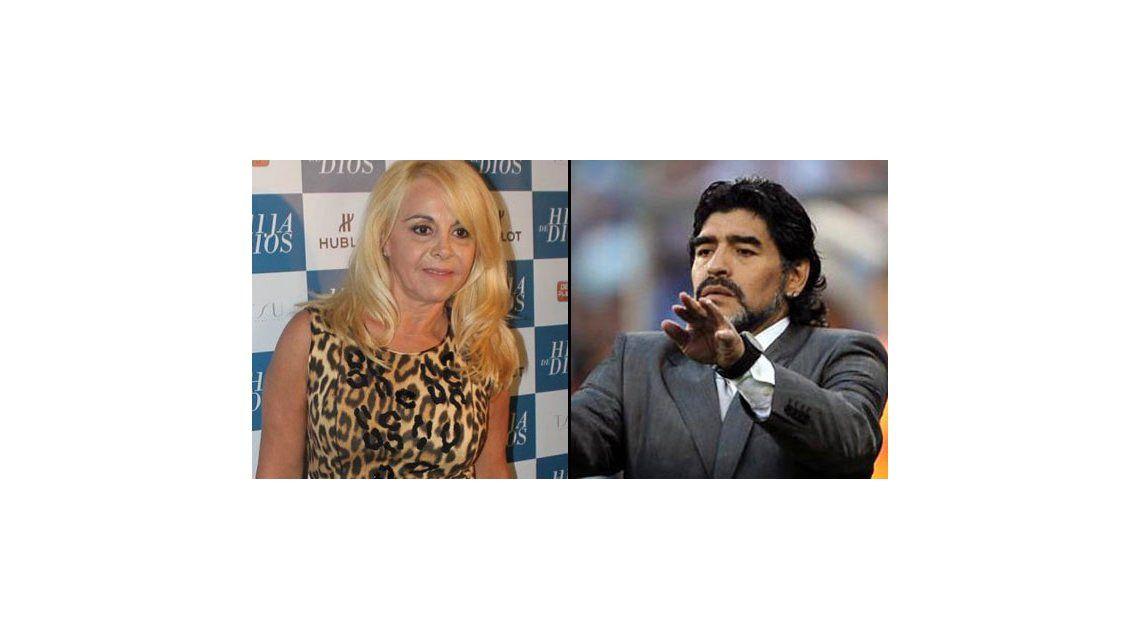 En medio del escándalo, Claudia Villafañe se comunicó con Diego Maradona por su salud: Rezo por vos