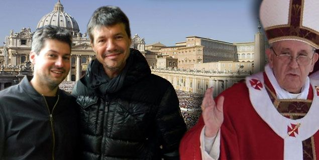 Tinelli espera en Roma a Matías Lammens para el encuentro con el Papa