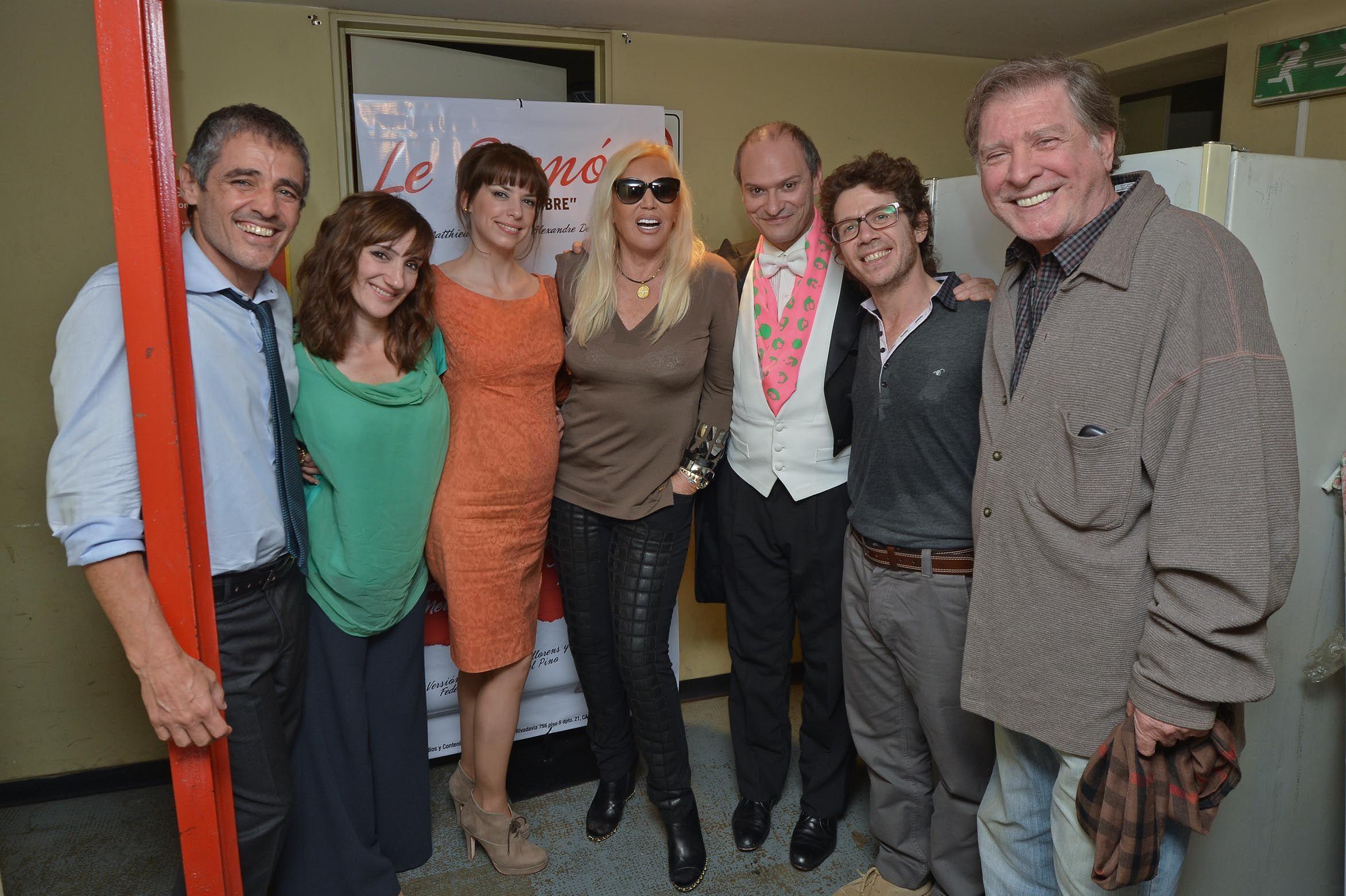 Susana Giménez presenció este domingo la función de Le Prenom en el Multiteatro