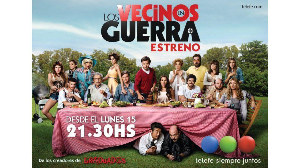 Larga Vecinos en guerra: el afiche de la nueva comedia de Sebastián Ortega