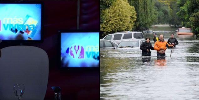 Temporal trágico: Canal 9 levantó Más Viviana y emitirá el noticiero