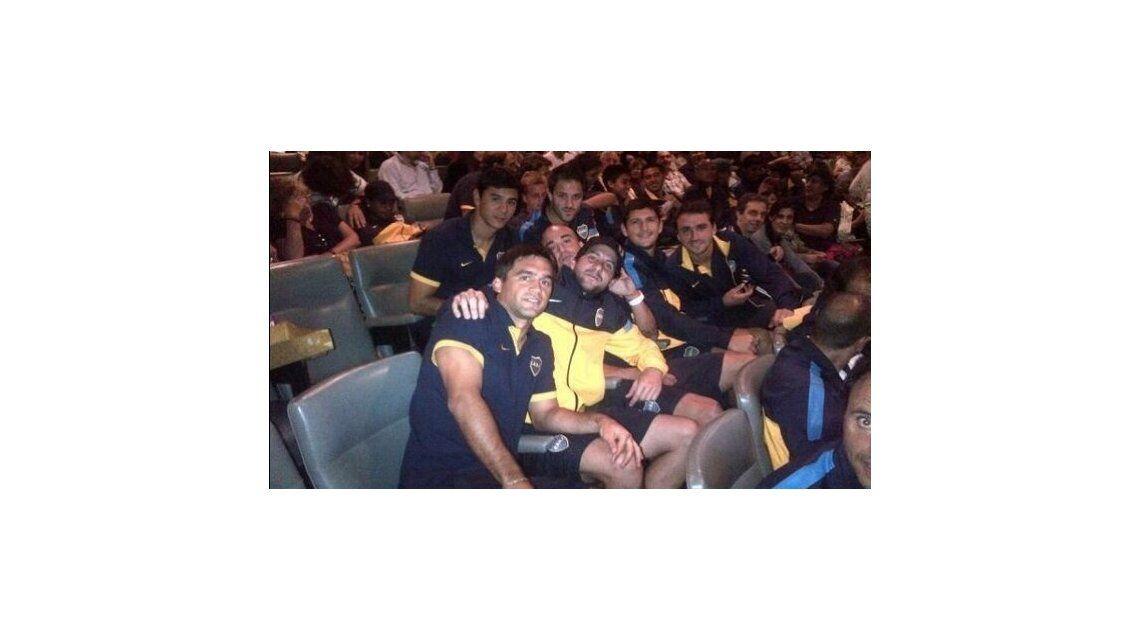 Carlos Bianchi y el plantel de Boca Juniors fueron a ver Le Prenom