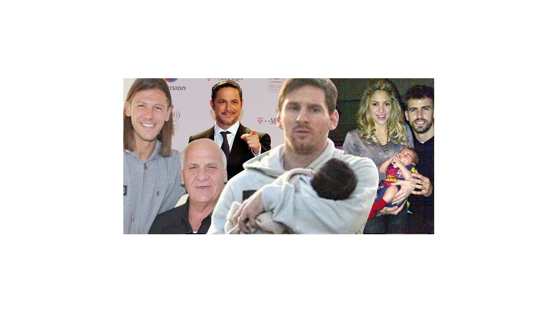 Famosos argentinos e internacionales festejaron el Día del Padre en España