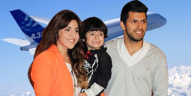 Llegaron al país Giannina Maradona y el Kun Agüero