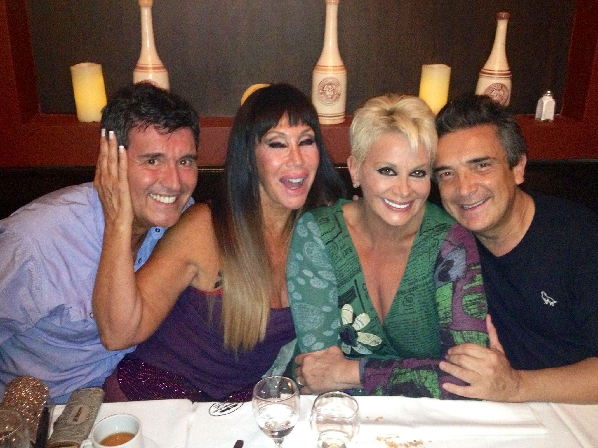 Nito, Carmen, Moria y Cherutti, de reunión cumbre
