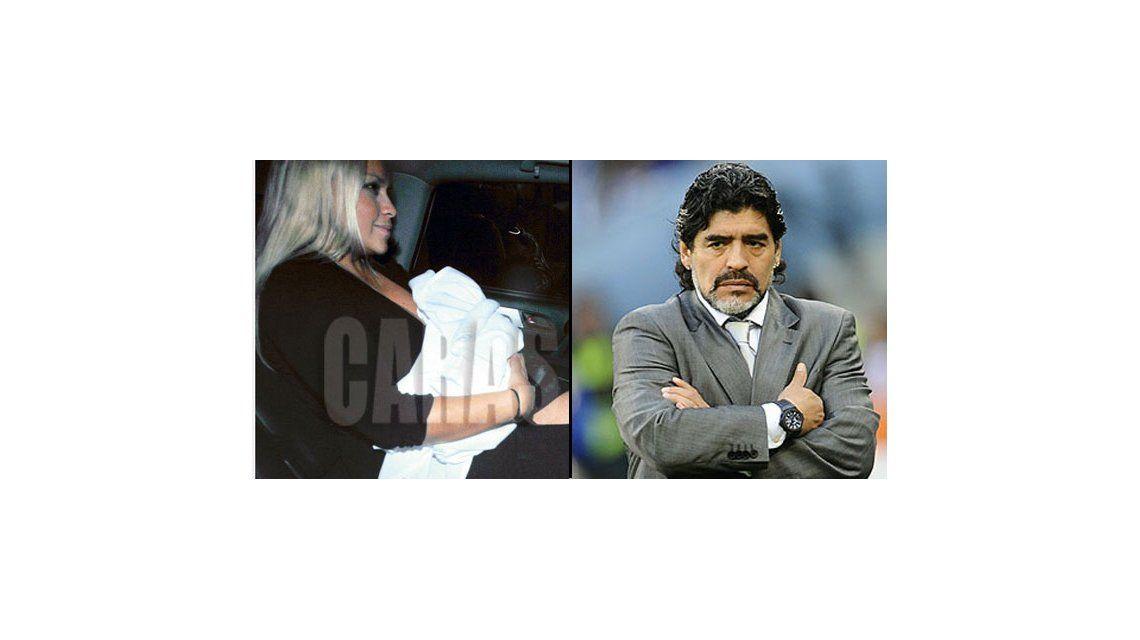 Diego Maradona vio por primera vez a su hijo, 90 días después de su nacimiento