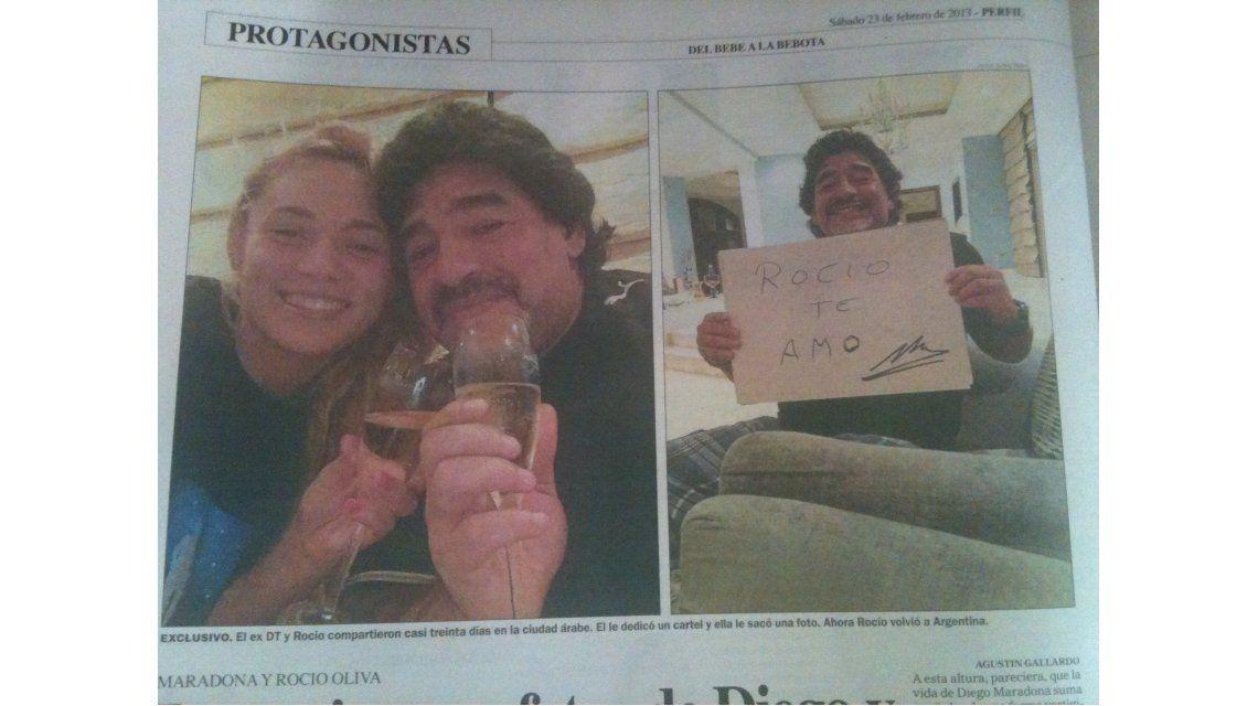 Amor confirmado: Diego Maradona y su álbum íntimo de fotos con su joven novia