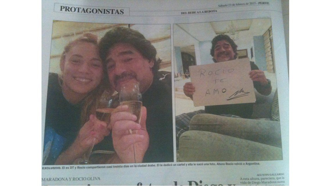 Rocío, la novia de Maradona: Estoy re enamorada, pero no estoy embarazada
